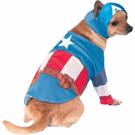 Rubie's Captain America Dog Costume Large ()