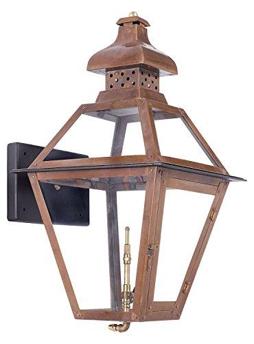 Bayou Outdoor Gas Wall Lantern Aged Copper (Bayou Gas Lantern)