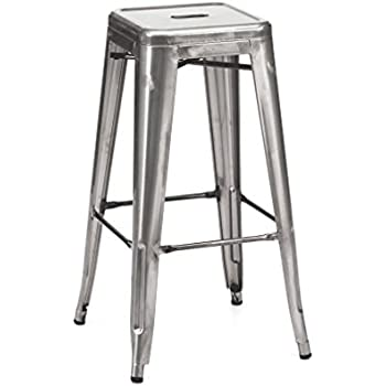Amazon Com Design Lab Mn Dreux Steel Barstool Set Of 4