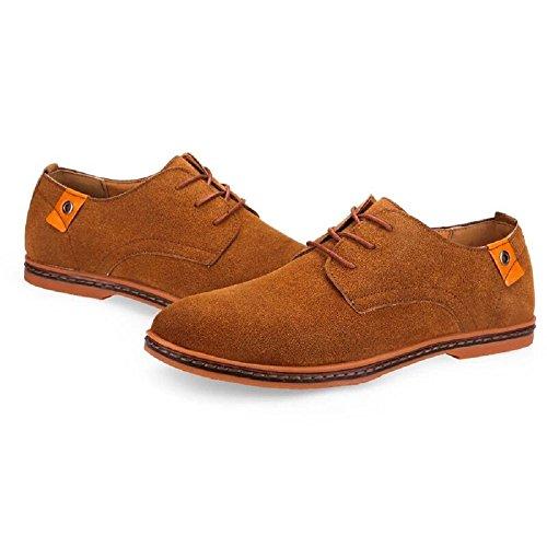 Gelb Derby Wildleder 48 Hochzeit Herren Business Schuhe Elegant 38 Braun Anzug Männer Leder Oxford Anzugschuhe Lederschuhe Schnürhalbschuhe Schwarz zqtTAqw