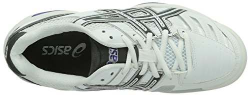 Asics Damen Tennisschuhe White INDOOR 0174 9 Charcoal CHALLENGER GEL Weiß Purple wfX0Iqfrn