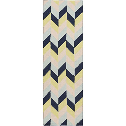 Surya TAL1000-268 Hand Woven Geometric Runner, 2-Feet 6-Inch by 8-Feet, (8' Runner Salmon)