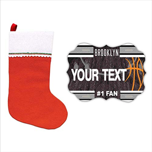 (BRGiftShop Personalize Your Own Basketball Team Brooklyn Christmas Tree Ornament)