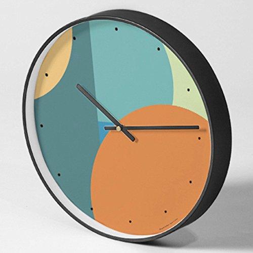 Modern Mute Quartz Art Wall Clock Modern Minimalist Abstract Fashion Creative Geometric Series,Orange (Kunststoff-rechteck)