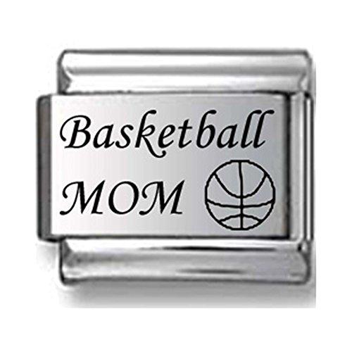 Basketball Mom Laser Italian Charm
