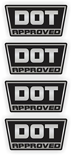 4-Pack DOT Approved Motorcycle Helmet Stickers Decals Lab...