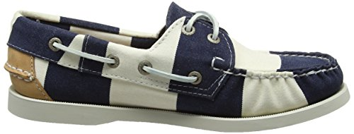 Cnvs Shoes Navy Sebago Wht Boat Spinnaker Stripe Blue Women's 7twxq8wH