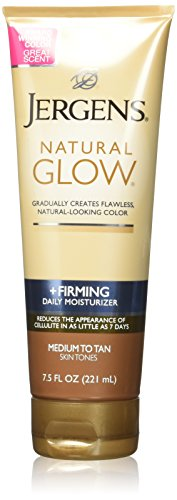 Jergens Natural Glow + Firming Daily Moisturizer Medium to Tan Skin Tones 7.5oz (Pack of 3)