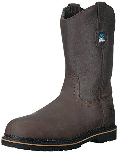 John Deere Men's McRae Mid Calf Boot, Brown/Brown, 14 W US