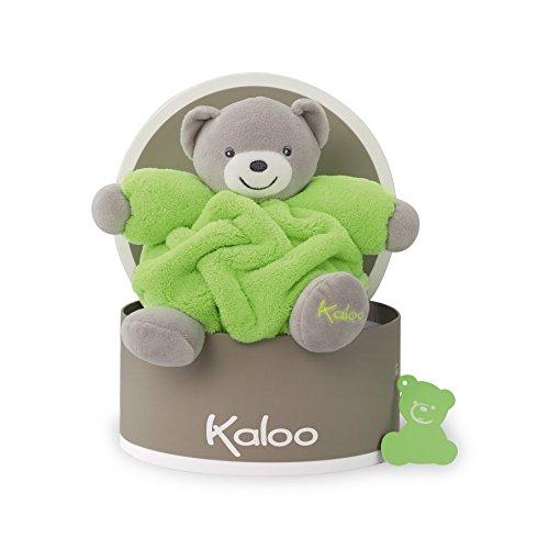 Kaloo Doudou Chubby Bear, Neon Green, Small (Toy Soft Doudou)