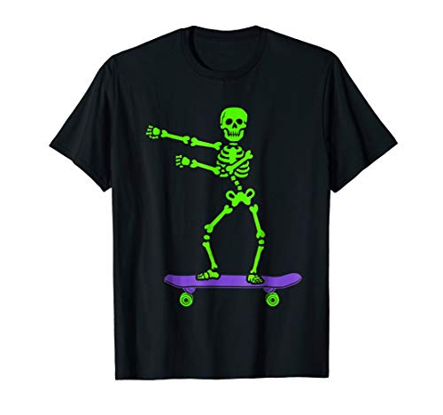 Spooky Skeleton Floss Dance Skateboard T-Shirt
