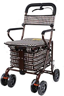 Carros para la Compra Walker Trolley Asiento Plegable Sillas ...