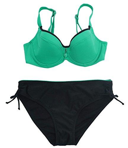 Sra. Del Bikini Más XL Fertilizantes Traje De Baño Multicolor Bragas Green