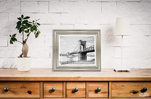New York Map Company  Photo - Historic Cincinnati, Ohio - The Suspension Bridge c1907, c1907 |Size: 8x10|Ready to Frame
