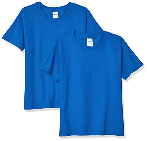 - Gildan Kids' Big Heavy Cotton Youth T-Shirt, 2-Pack, Royal, Small