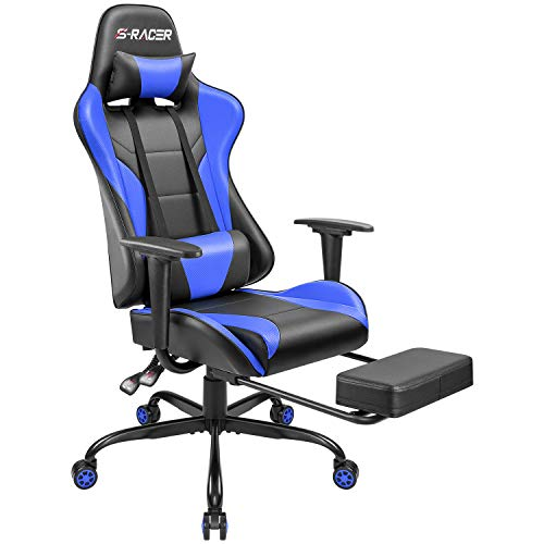 Homall Gaming Computer Office Ergonomic Desk Footrest Racing Executive Swivel Adjustable Rolling Task Chair