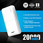 Foxin FPB 2215 Poly 20000mAh Li-Polymer Power Bank with 12W Fast Charge Type C & Micro USB Input (White)