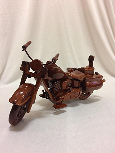Sidecar Motorcycle Replica Model Hand Crafted with Real Mahogany Wood