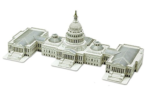 3D Puzzle Teaches the History, Architectural Design and Government Workings Associated with the Capitol Hill Building in Washington DC. No Scissors or Glue Necessary. (Architectural Unknown)