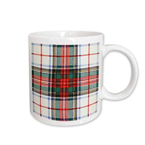 3dRose Russ Billington Patterns- Tartan and Plaid - Image of STEWART Clan Kilt Scottish Tartan Plaid Pattern - 15oz Mug (mug_297240_2)