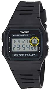 Casio Grey Dial Resin Band Watch - F-94Wa-8Dg, Black Band, Digital Display, For Unisex