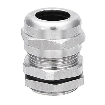eDealMax M221.5 metal a prueba de agua Conector sujetador relleno Contratuerca casquillo de cable