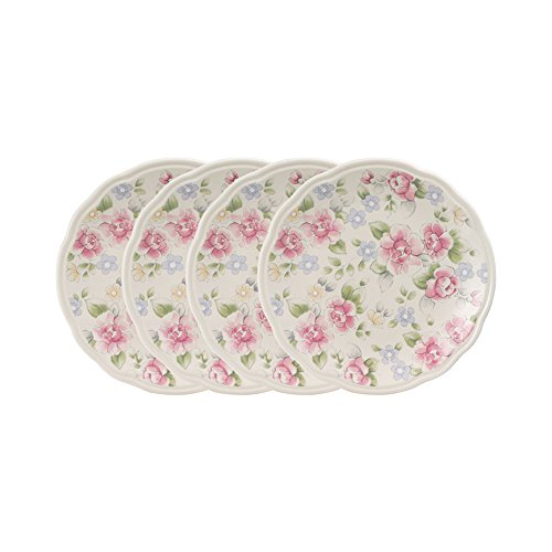 Pfaltzgraff Tea Rose Accent Luncheon Plates, Set of 4