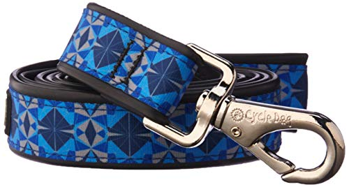 Cycle Designs - Cycle Dog Blue Kaleidoscope Design Pet Leash with Bottle Top Opener - 6 Ft