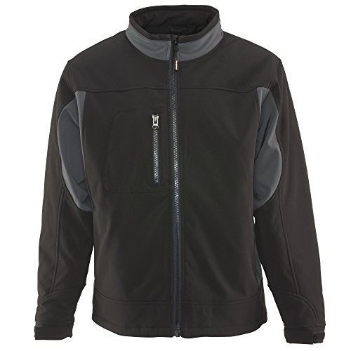 RefrigiWear Men's Insulated Softshell Jacket, Black X-Large - Weather Microfiber Jacket