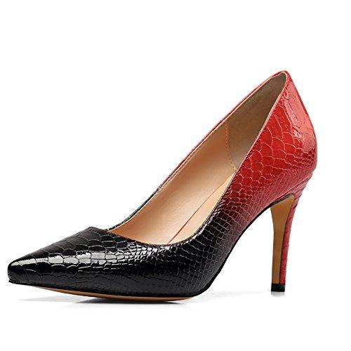 Rosso Basso Amy 42 Q 171219001 Collo amp;Red Donna A EU Black qISIw4
