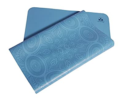 Clever Yoga Premium LiquidBalance Travel Mat Eco and Body Friendly Sweat Grip Non-Slip With Carrying Yoga Bag