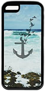 Beach Background Anchor Theme Hard Back Cover Case For Iphone 5C