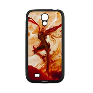LeonardCustom- Dave Matthews Band Fire Dancer Rubber Hard Silicone Skins Covers Cases for Samsung Galaxy SIV S4 [Black / White] -LCS4U449