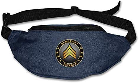 陸軍軍曹ベテランユニセックスアウトドアファニーパックバッグベルトバッグスポーツウエストパック