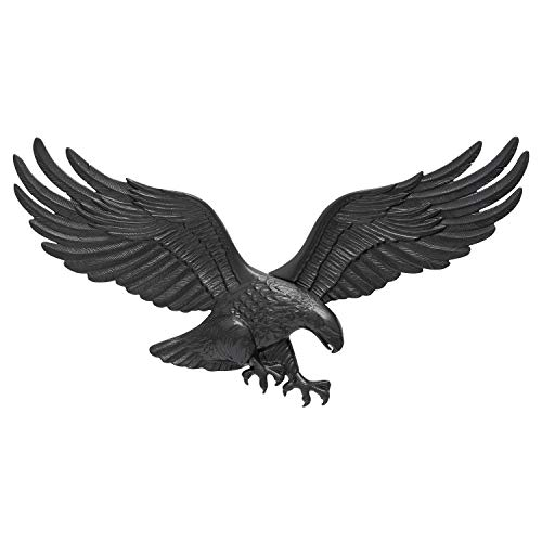 Whitehall Products Decorative Wall Eagle, 29-Inch, Black