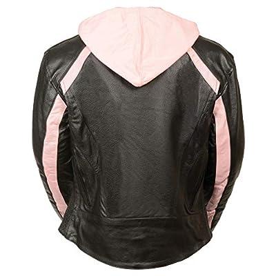 Milwaukee Leather Women's Striped Jacket (Black/Pink, Small): Automotive