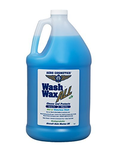 Aero Cosmetics Wet or Waterless Car Wash Wax 128 oz. Aircraft Quality Wash Wax for your Car RV & Boat. Guaranteed Best Waterless Wash on the Market (Best Waterless Car Cleaner)