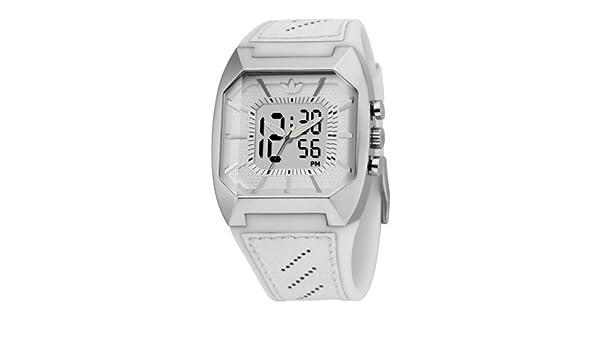 adidas adh1826 Unisex correa de piel reloj digital de color blanco: Amazon.es: Relojes