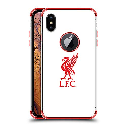 (Official Liverpool Football Club Red Logo On White Liver Bird Red Shockproof Fender Case for iPhone Xs Max)