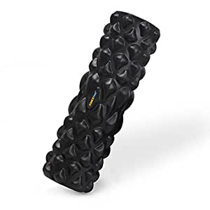 Forcefree+ Foam Roller - Black, 16.9'' - High Density Trigger Point Massage Roller for Physical Therapy, Relieve Soreness, Muscle Exercise - Free Workout Guide & Carry Bag