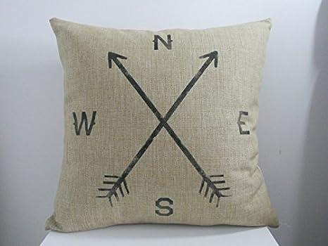 Diseño de eslabón cuadrado plano Hidoon® Cotton Linen cojín ...
