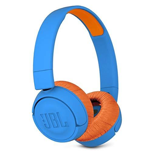JBL JR 300BT Kids On-Ear Wireless Headphones Safe Sound Technology (Blue/Orange) -