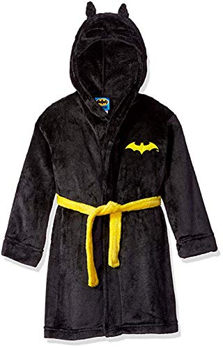 DC Comics Toddler Boys' Batman Hooded Robe, Black, 5T