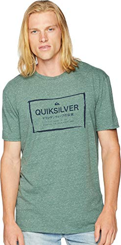 (Quiksilver Men's Quik in The Box TEE Shirt, Dark Forest Heather, L)