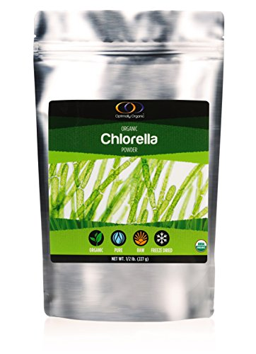 Chlorella Powder, 1/2 lb - Complete Nutrition, Whole Food Supplement by Optimally Organic