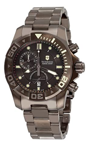 Victorinox Swiss Army Men's 241424 Dive Master 500 Chrono Black Dial Watch (Mens Swiss Army Watch Diver 500)