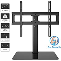 "1home Table Top Pedestal TV Stand for 32""-60"" LCD/LED/Plasma TVs Swivel Height Adjustable"