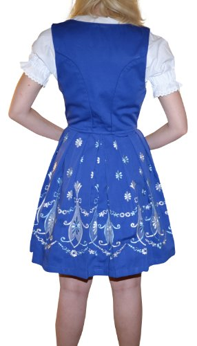 Dirndl Trachten Haus 3-piece Short German Wear Party Oktoberfest Waitress Dress 16 46 Blue by Dirndl Trachten Haus (Image #3)