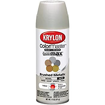 Krylon K05125500 ColorMaster Paint U0026 Primer Brushed Metallic Spray Paint,  Satin Nickel, 11 Ounce