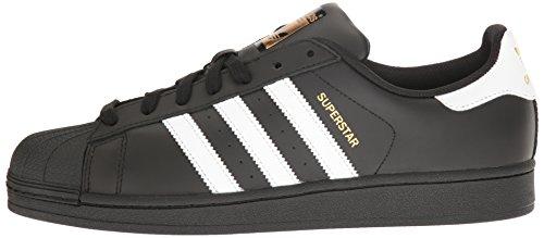 Adidas Originals Men's Superstar Foundation Casual Sneaker, Black/White/Black, 11 M US